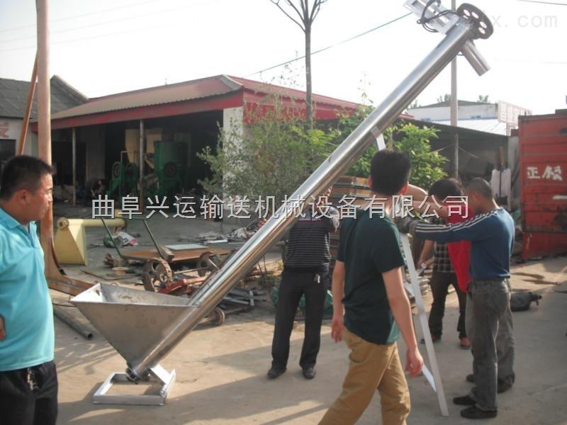 兴运小颗粒物料垂直提升机 工业饲料提升机图片 干粉提料机视频17