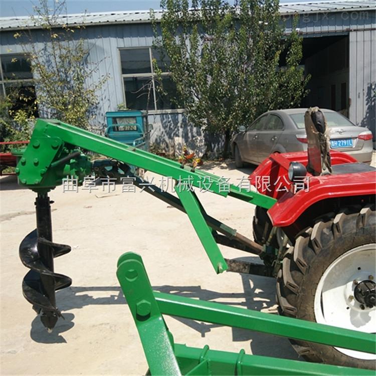 園林植樹地鑽挖坑機 富興手提式挖坑機 埋桿專用鑽眼機型號價格
