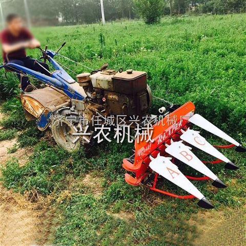 苜蓿割倒机稻麦谷子割晒机小型辣椒收割机
