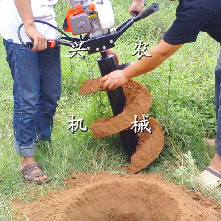汽油植树挖坑机 螺旋式钻头挖坑机 遵义市手提栽树挖洞机